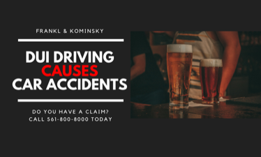 DUI Driver causes Car Accidents in West Palm Beach