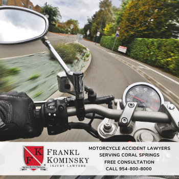File a motorcycle accident claim in Coral Springs Florida