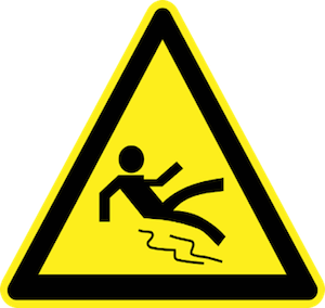 Slip and Fall - Yellow Sign